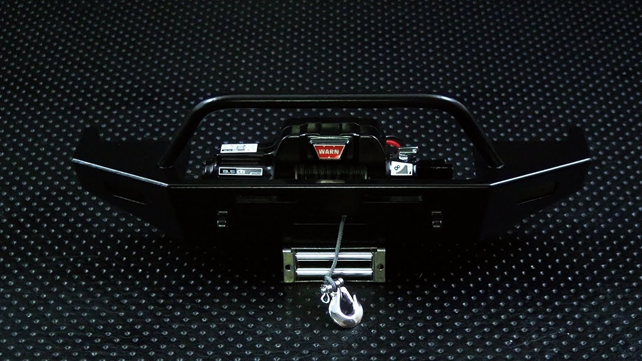 medium resolution of mounting a rc4wd 1 10 warn 9 5cti winch onto the front machined winch bumper for trail finder 2