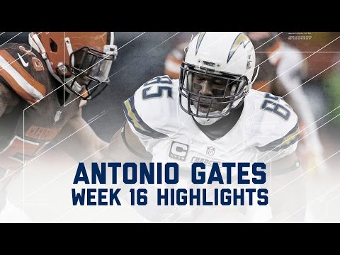 Antonio Gates Gobbles Up 8 Rec., 94 Yards & 1 TD vs. Browns | NFL Week 16 Player Highlights