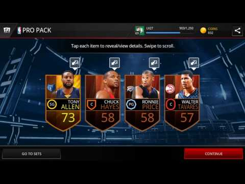 Variety pack opening in NBA live mobile Asia