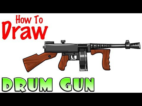 How To Draw The Drum Gun Fortnite