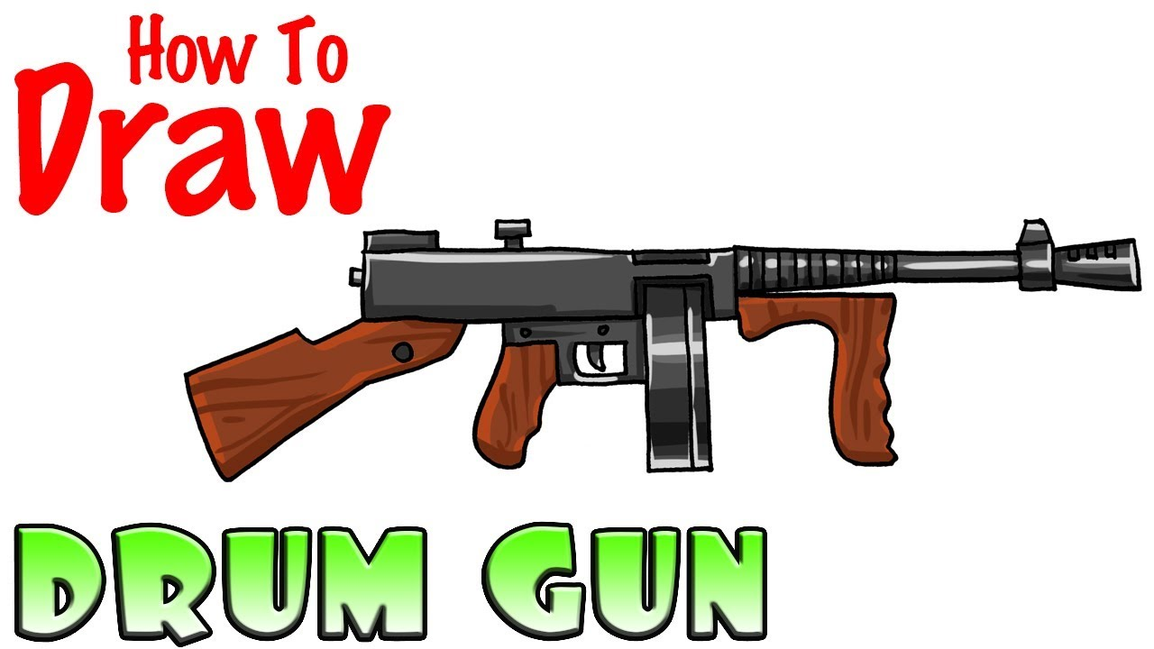 How To Draw The Drum Gun Fortnite Youtube
