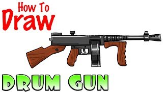 How to Draw the Drum Gun | Fortnite