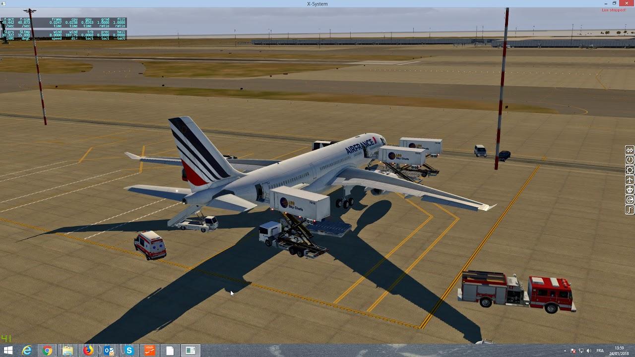 X Plane 11 10 A330 Jardesign version 3 cold and dark et take off