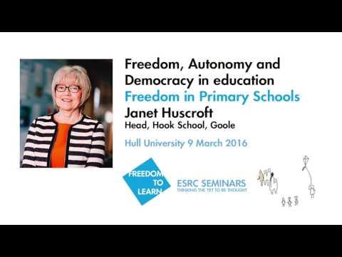 Freedom in Primary Schools – Janet Huscroft Hook School