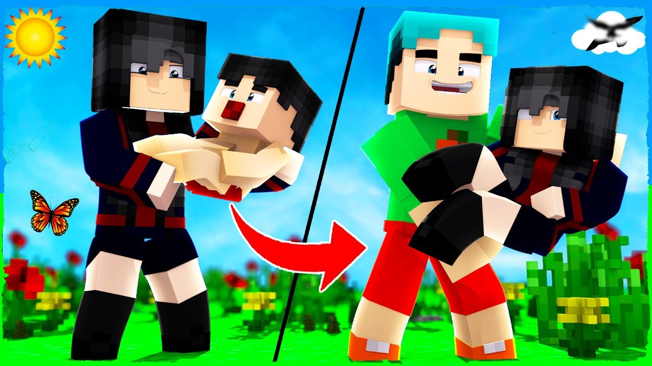 WHO'S YOUR MOMMY? - MOM TURNS INTO BABY (Minecraft Animation)