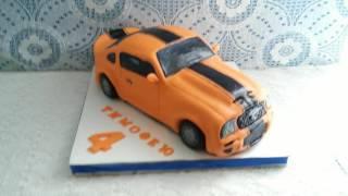 Торт машина 3Д   Ford Mustang(Торт в 3д исполнении для моего старшего сыночка Тимофея. Мое первое видео описание торта и первое видео..., 2016-07-10T08:33:33.000Z)