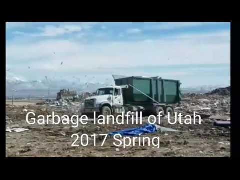 Garbage landfill of Utah 2017 Spring
