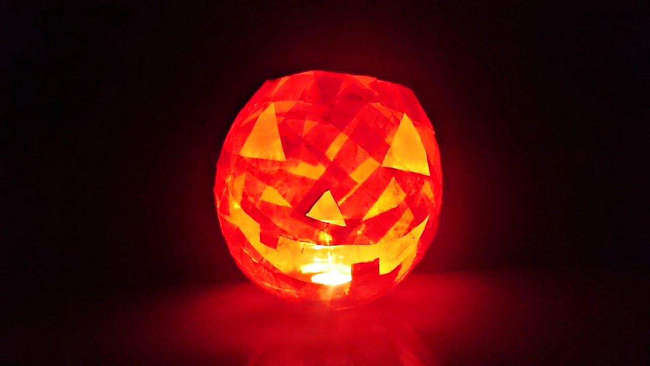 Bricolage Halloween Comment faire citrouille lumineuse papier  YouTube