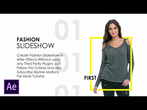 Fashion Promo Slideshow in After Effects | After Effects Tutorial