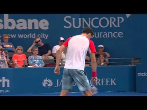 Grigor Dimitrov v Marin Cilic - Full Match Men's Singles Round 2: Brisbane International 2014