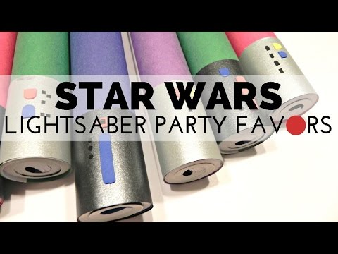 How to Make Lightsaber Coloring Book Party Favors