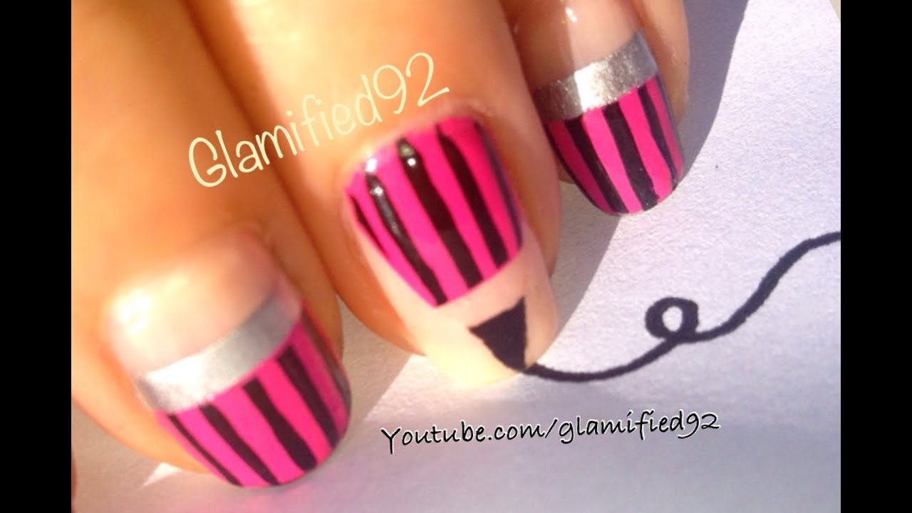 2015 DIY EASY BACK TO SCHOOL NAILS✏Pink Pencil Nail Art Design For ...
