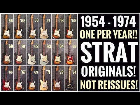 Unique Vintage Fender Stratocaster Reference - 20 first years compared! Not Reissues