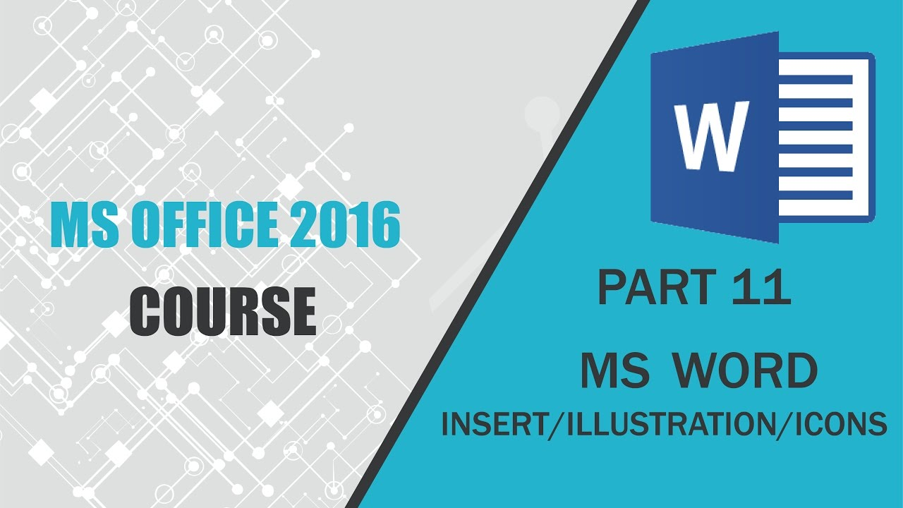 MS OFFICE 2016 Word INSERT ILLUSTRATION-ICONS PART 11 - R TecH BangLa