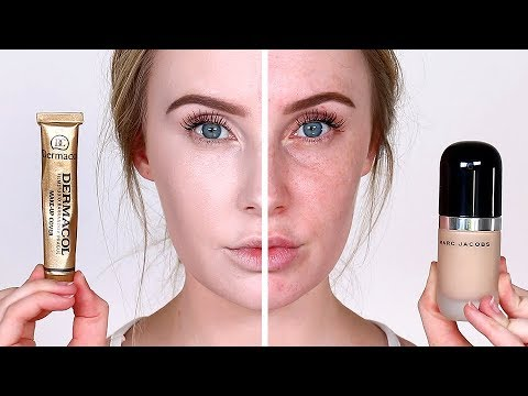 FULL COVERAGE FACE-OFF!! 2 Ultra Full Coverage Foundations TESTED | Lauren Curtis