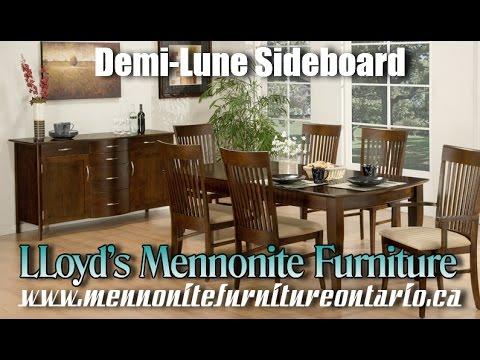 Mennonite Sideboard, Demi Lune solid wood sideboard, Mennonite Furniture Barrie Ontario.