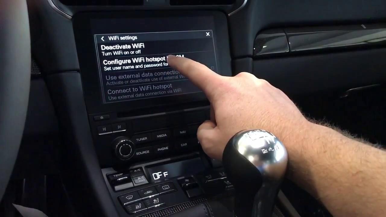Porsche wifi setup and connection