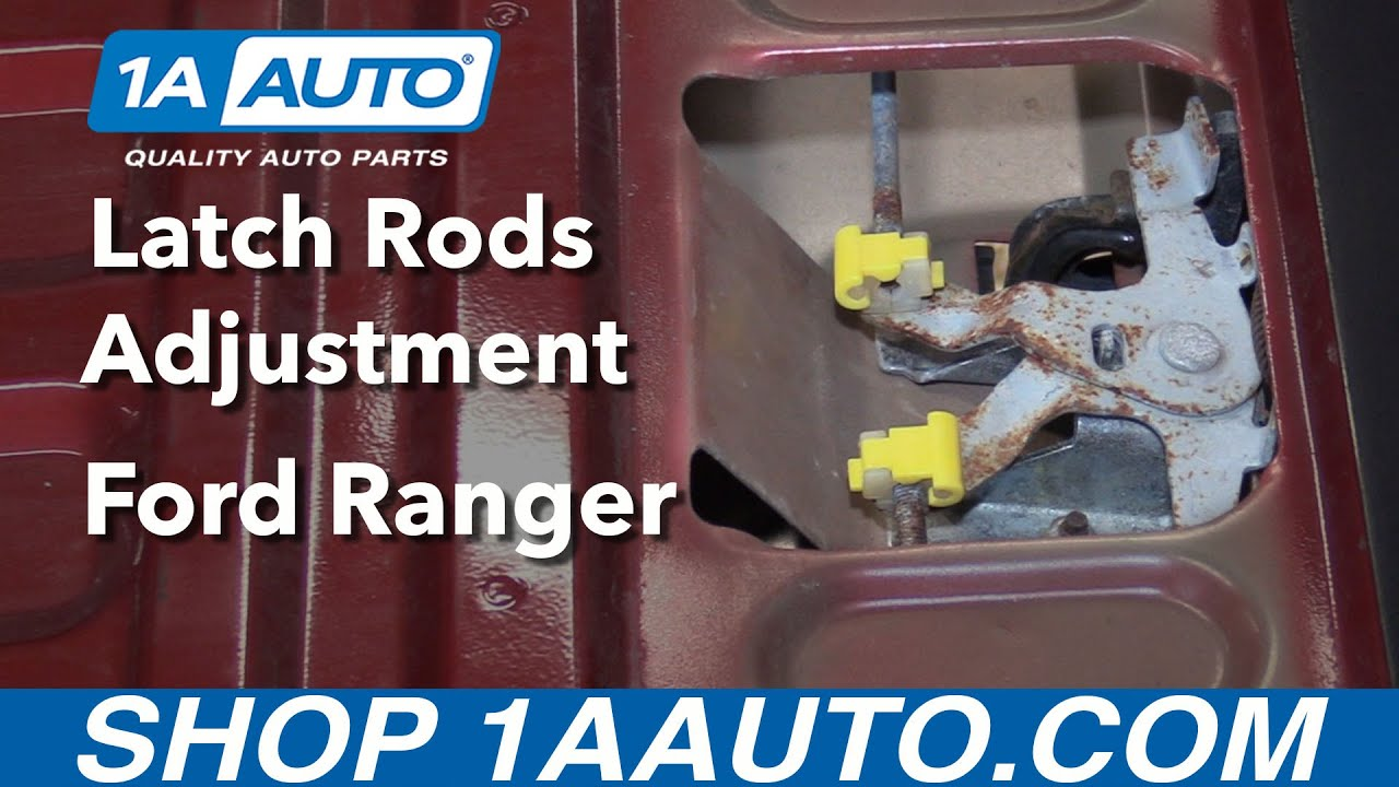 How To Adjust Tailgate Latch Rods 98 12 Ford Ranger