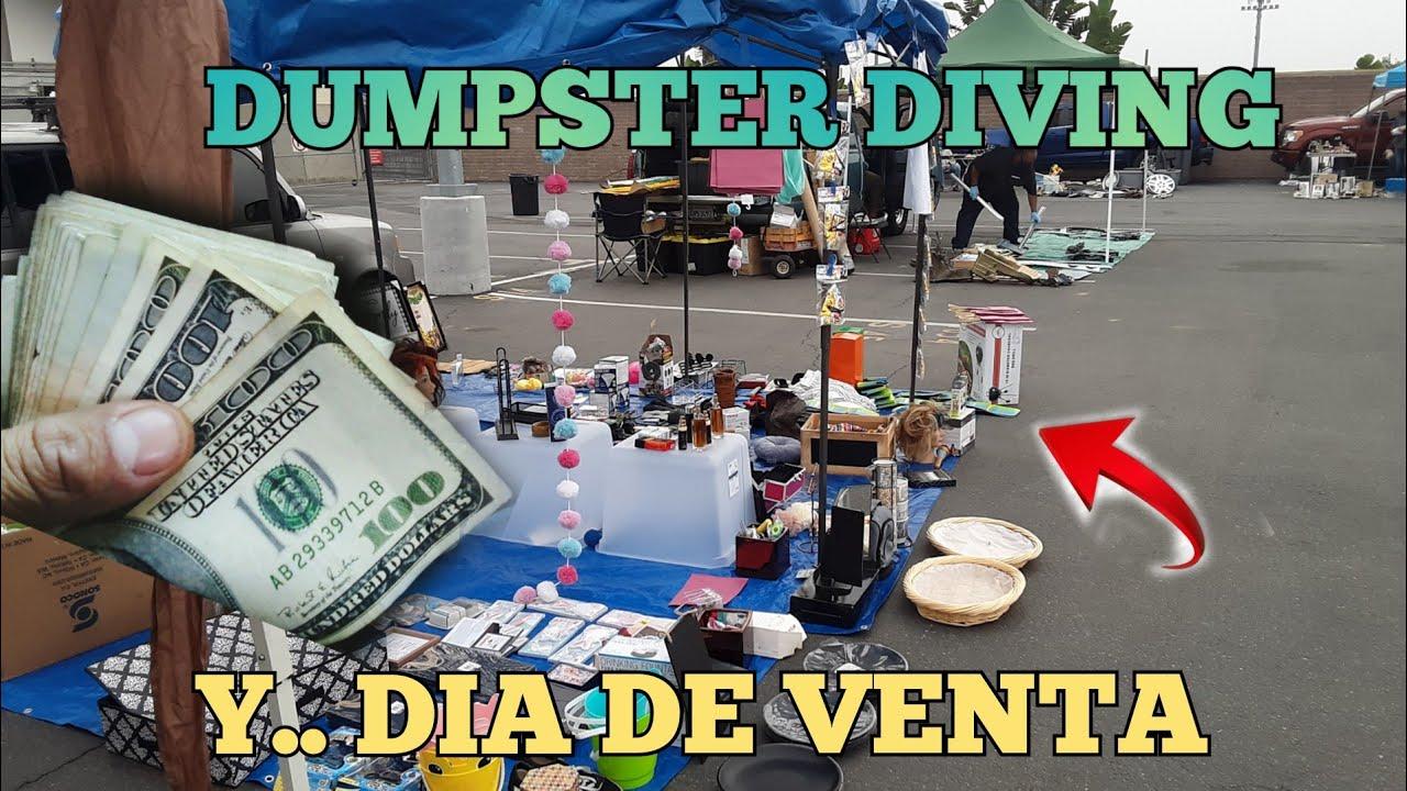 DUMPSTER DIVING / Lo que tiran en USA 🇺🇸🇲🇽 / dia de venta.. me fue increible. 💰