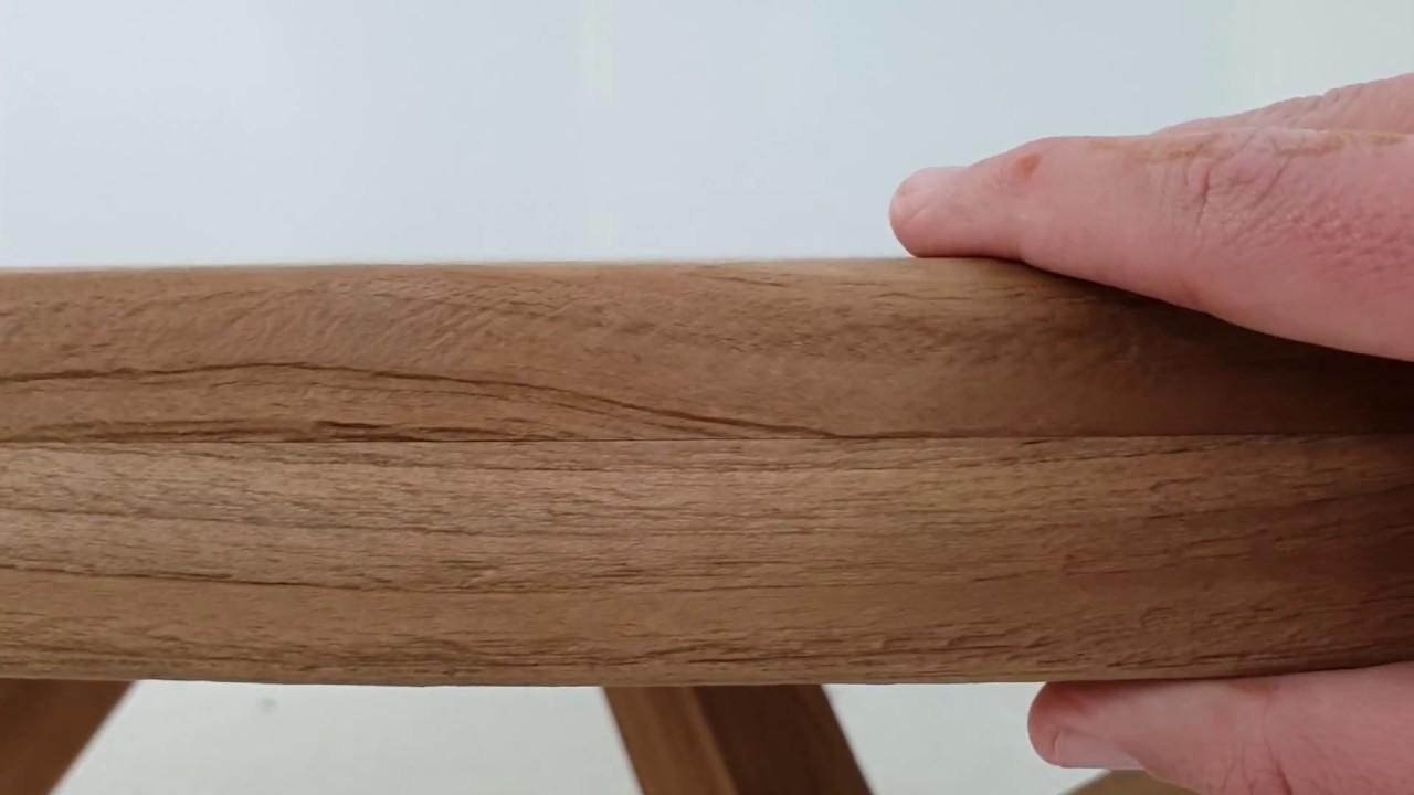 Cómo es la mesa escudo para jardín de madera Teca alta calidad ...