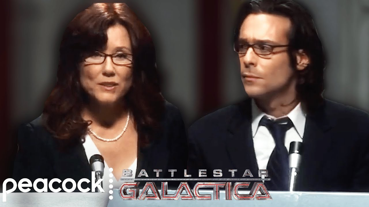 Download Battlestar Galactica   The Presidential Debate: Gaius vs. Roslin