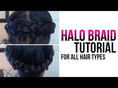 Halo braid tutorial how to crown braid your own hair youtube halo braid tutorial how to crown braid your own hair ccuart Gallery