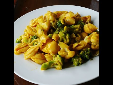 Cheesy Shell Pasta and Broccoli – Low Fat Vegan