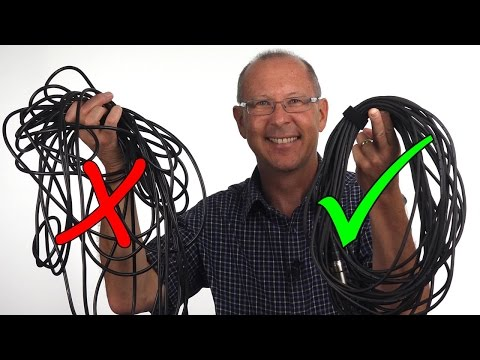 Rolling microphone cables correctly
