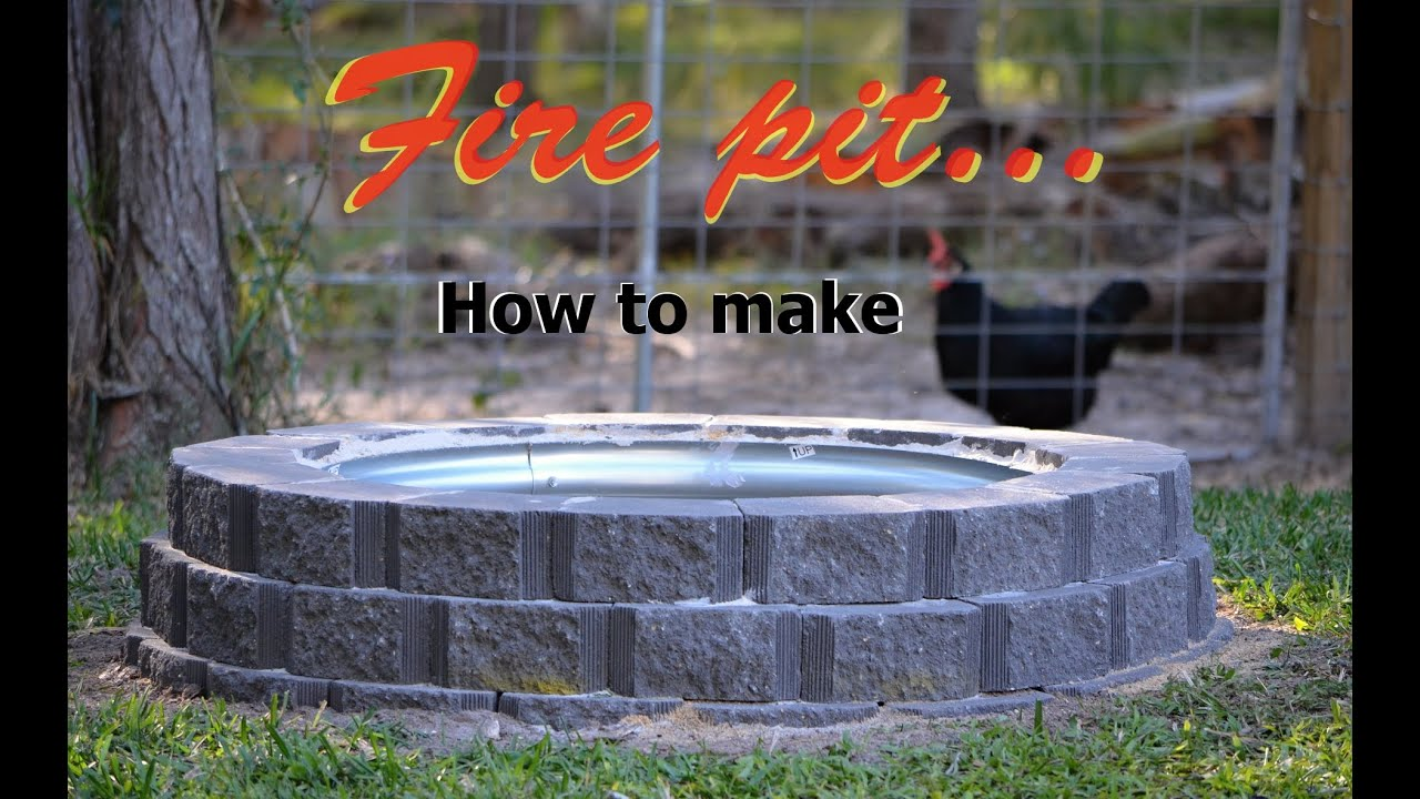 How To Make A Fire Pit Using Retaining Wall Blocks Plus