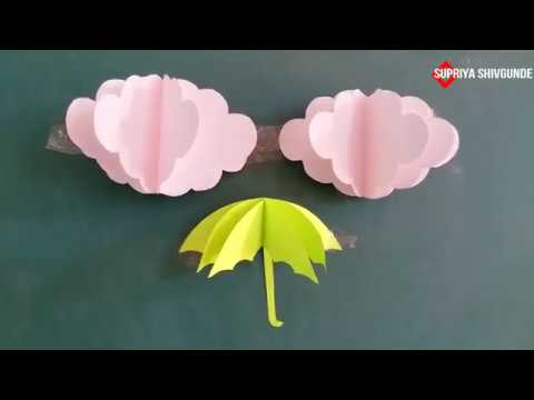 3D Paper Cloud|| Craft Creativity|| Paper Cloud||