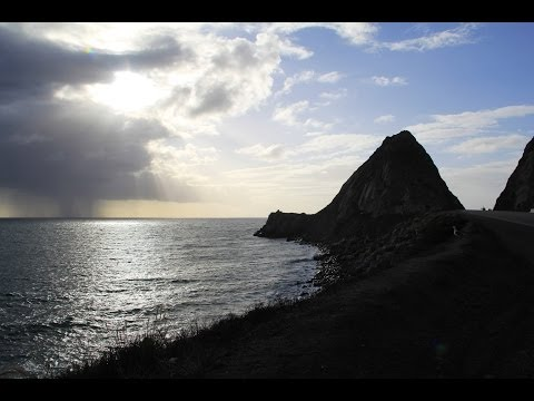 Point Mugu Rock, Malibu California - State Route 1 - Pacific Coast Highway - Pacific Ocean