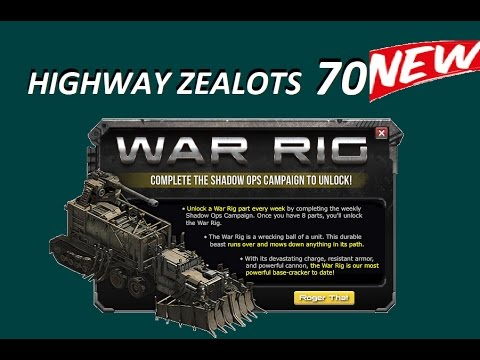 War Commander - Highway Zealots 70 WAR RIG New Campgain🔥