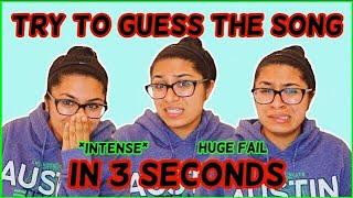 GUESS THE POP SONG IN 3 SECONDS CHALLENGE! (fail)