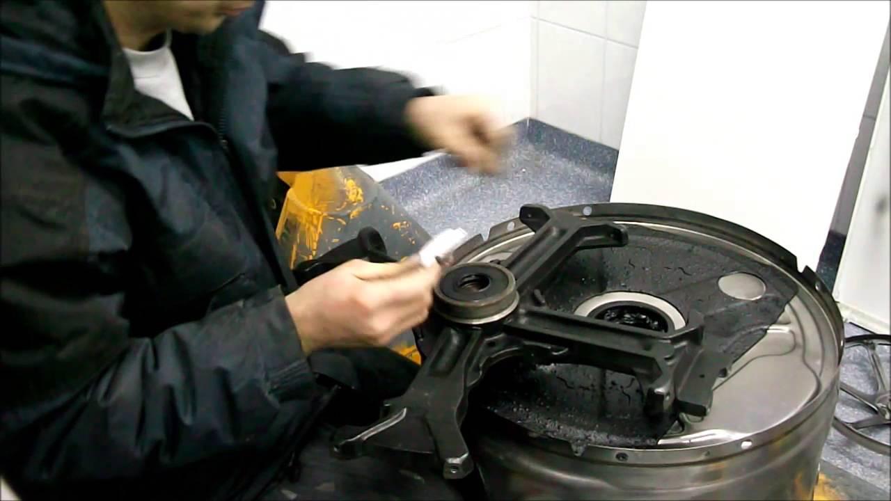 miele waschmaschine trommelkreuz zusammenbauen youtube. Black Bedroom Furniture Sets. Home Design Ideas