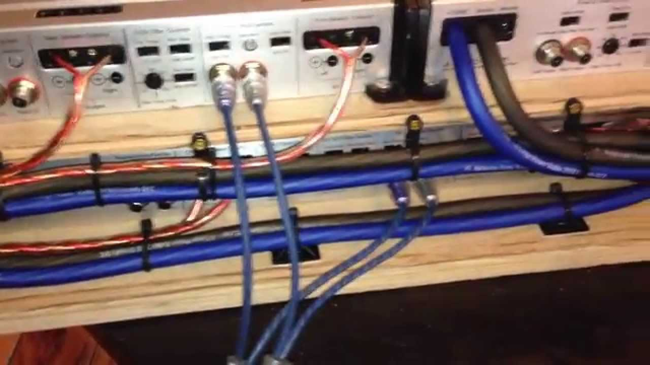 jl audio slash amp rack wiring update video 2 youtube rh youtube com basement audio video wiring audio video wiring installation