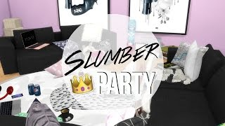 ♡ The Sims 4: Room build // Slumber party living room ♡
