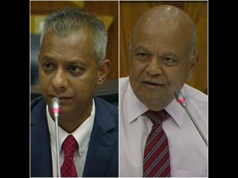 Pravin Gordhan takes on Anoj Singh at Eskom inquiry