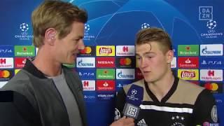 Matthijs de Ligt im DAZN Interview nach Juventus vs Ajax