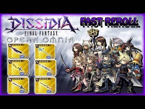 DISSIDIA FF Opera Omnia ~ Fast Reroll Guide