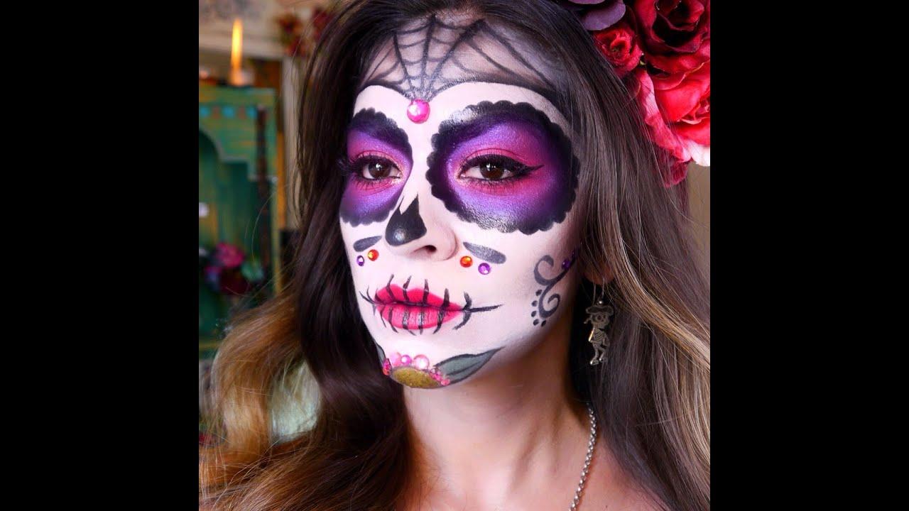 Sugar Skull Makeup Tutorial | Dia de los Muertos - Halloween ...