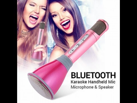 Wireless Karaoke Mic Bluetooth Handheld Microphone Speaker ECHO Effects K068
