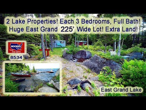 Real Estate On A Lake In ME   Two Waterfront Homes For Sale MOOERS REALTY #8534