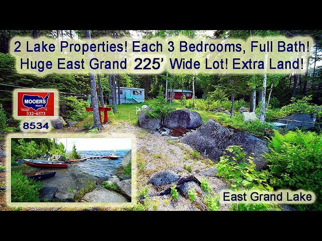 Real Estate On A Lake In ME | Two Waterfront Homes For Sale MOOERS REALTY #8534