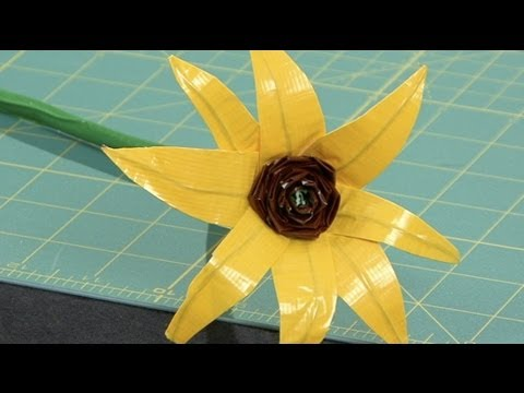 Duct Tape Flowers Vases And Pens Youtube