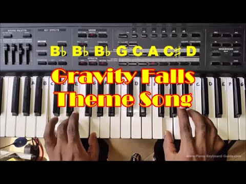 Piano piano chords melody : Gravity Falls Theme Song Easy Piano Chords and Melody Tutorial ...