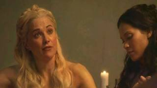 Lucy Lawless threesome on Spartacus! Xena is back?!