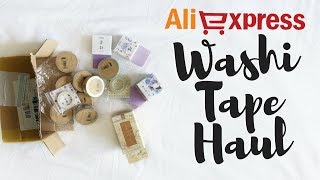 Huge Aliexpress Washi Tape Haul | Likeimstudying...