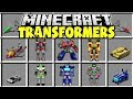 Minecraft TRANSFORMERS MOD | CRAFT MINECRAFT TRANSFORMERS AND MORPH INTO CARS, TANKS, & MORE!!