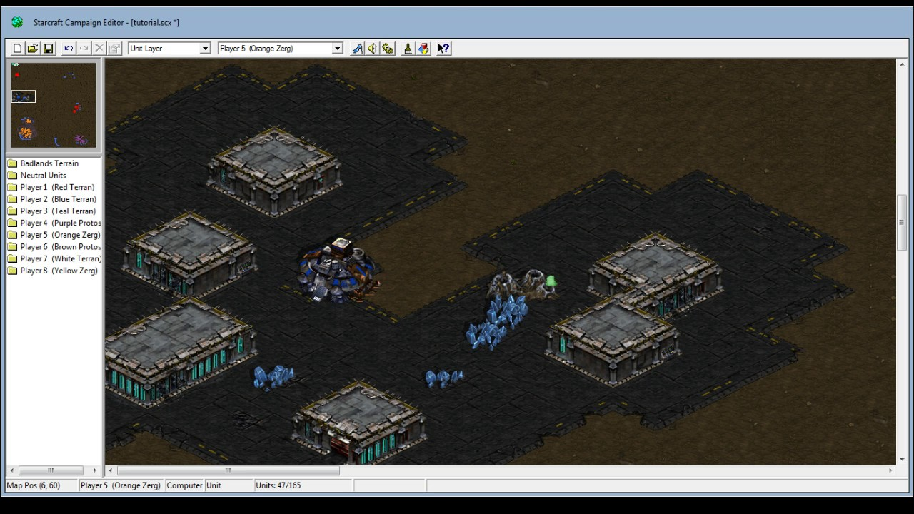 starcraft tutorial various triggers