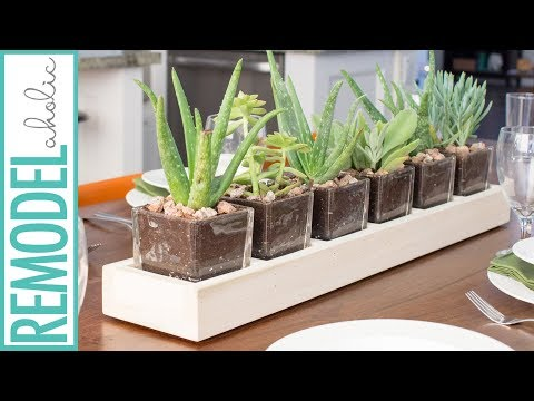 Build a Wood and Glass Centerpiece Planter